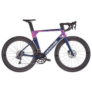 Vélo de Course CANNONDALE SYSTEMSIX HI-MOD DISC Shimano Ultegra DI2 Mix 36/52 Team Replica Bleu 2021